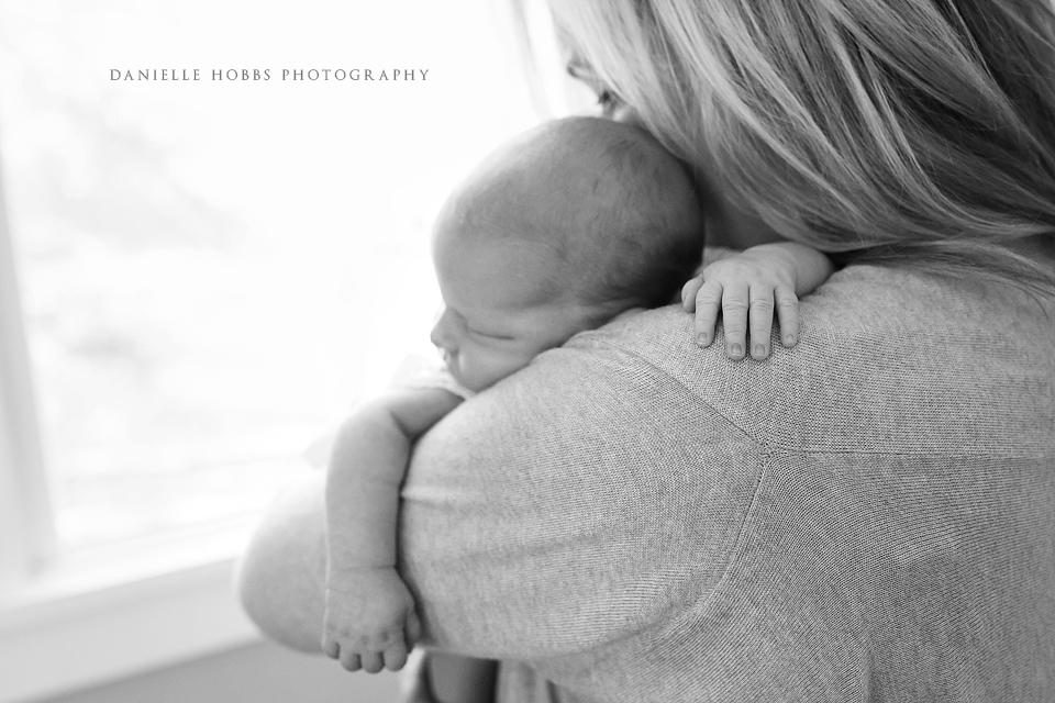 Mom Baby Newborn - Danielle Hobbs Photography