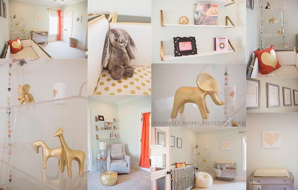 Coral Gold Nursery Decor - Danielle Hobbs Photography
