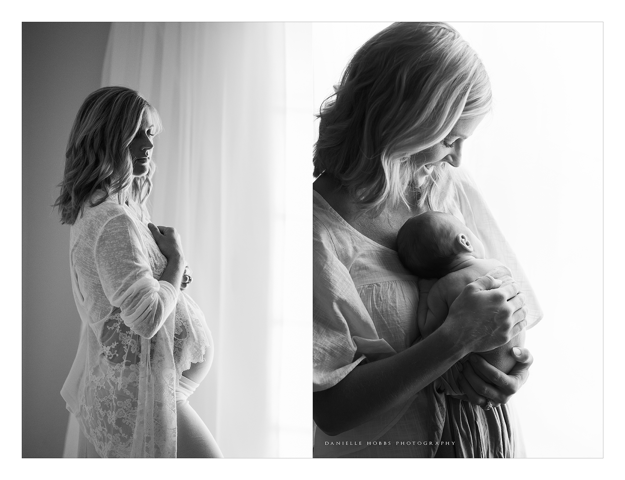 before after maternity newborn