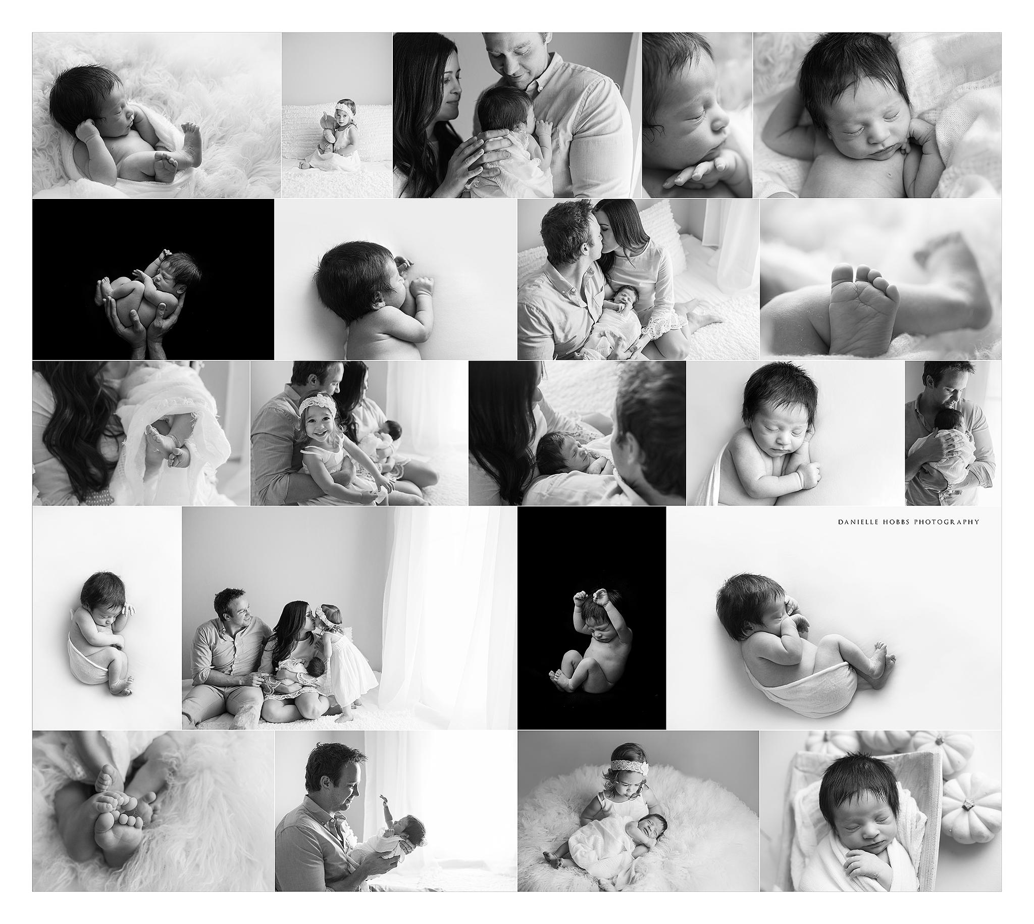 black and white simplicity newborn