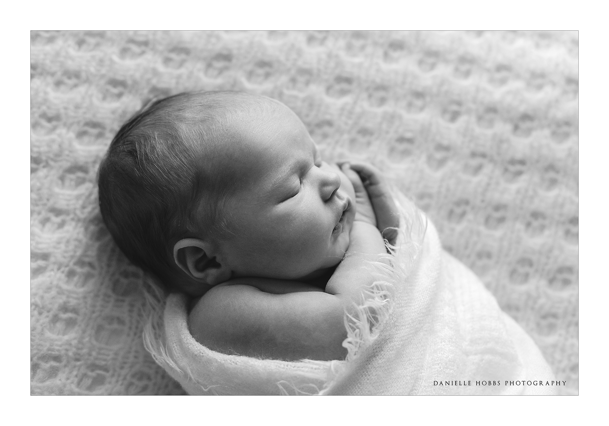 swaddled newborn wrap