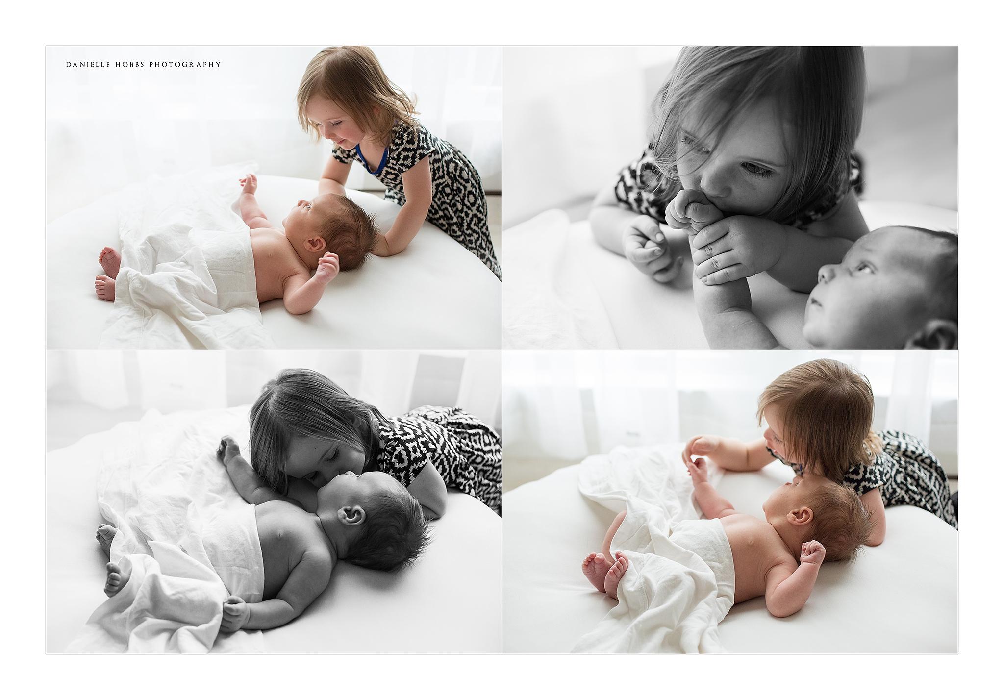Toddler and newborn baby portraits Tysons Corner