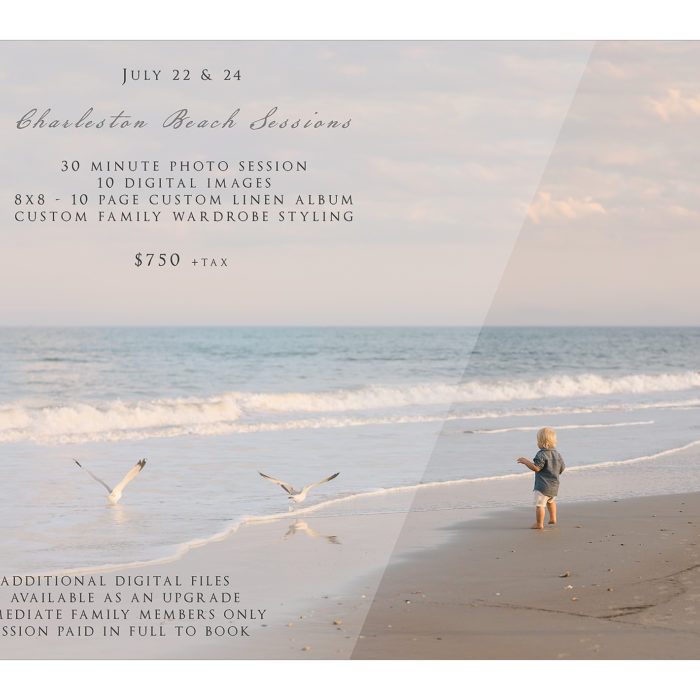 Charleston SC Beach Sessions - 2018